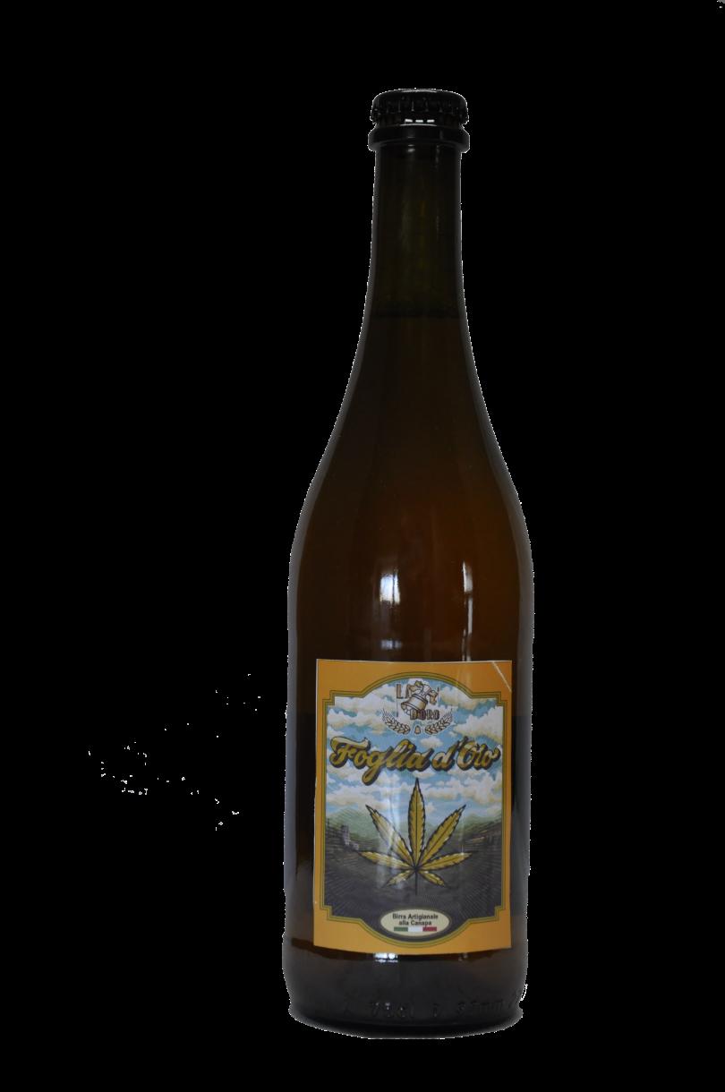 bottiglia birra foglia d'oro da '33