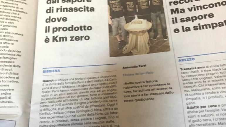 La Campana d'Oro nel giornale!