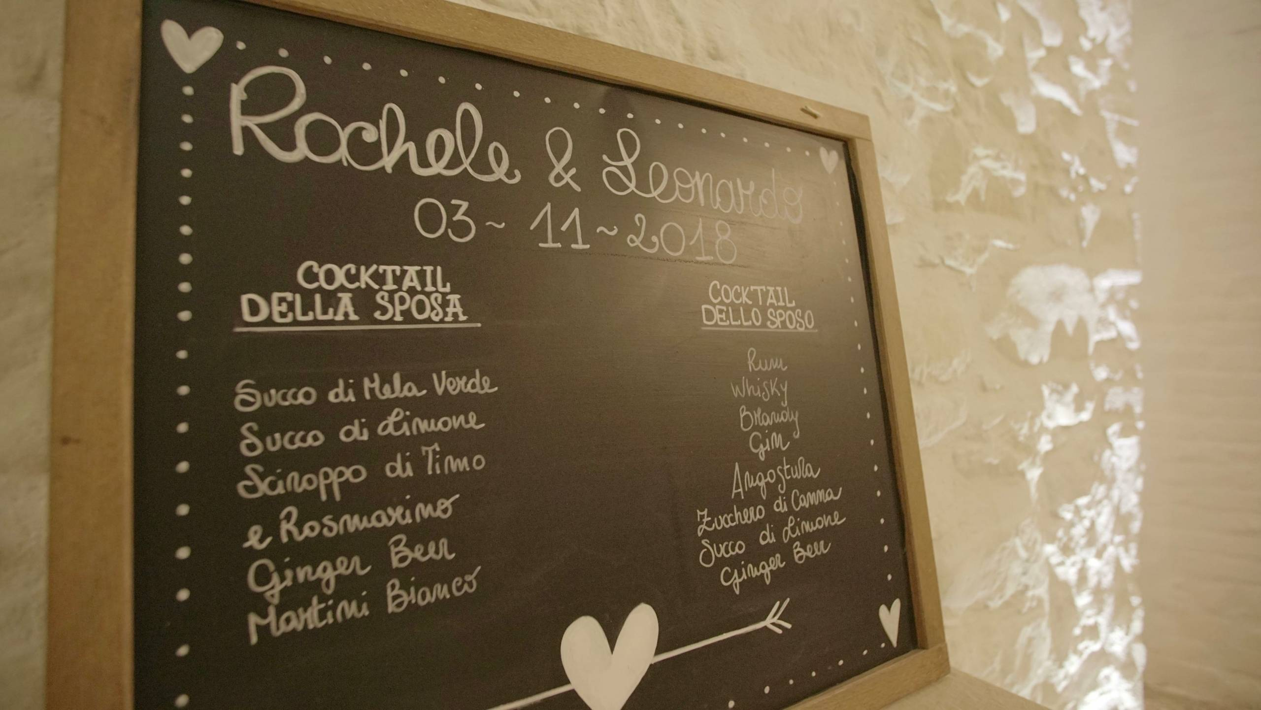foto lavagnetta de il menu della serata