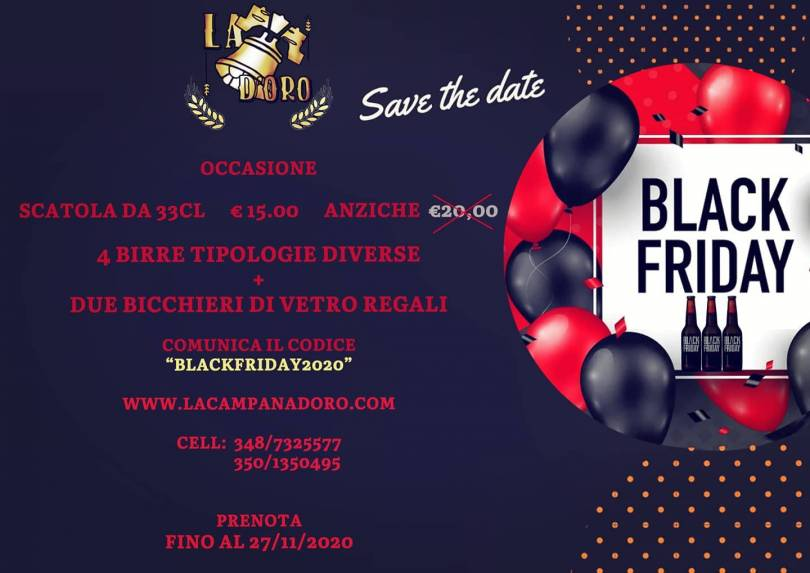volantino offerta di black friday 2020