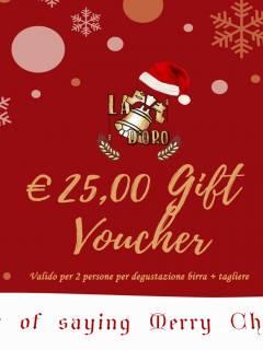 gift voucher di natale da 25 euro
